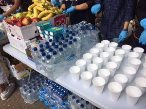 Fresh fruit, water and hot drinks are among the items distributed every Sunday at Children of Adam.